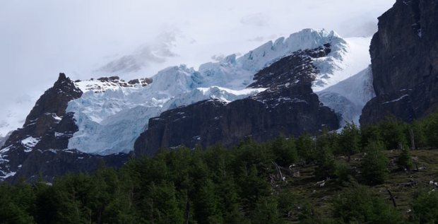Glacier along hike to Torres