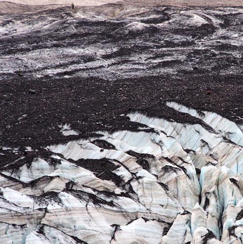 Glacier and rock