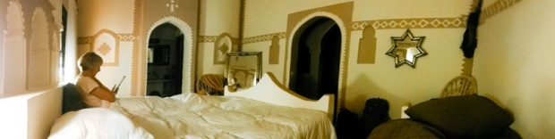 Our amazing hotel room in Auberge de Sud