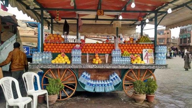 Orange juice stands everywhere!