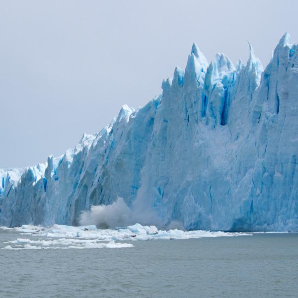 Perito Moreno Glacier calving off