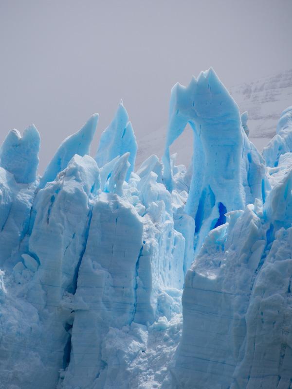Strange glacier formations
