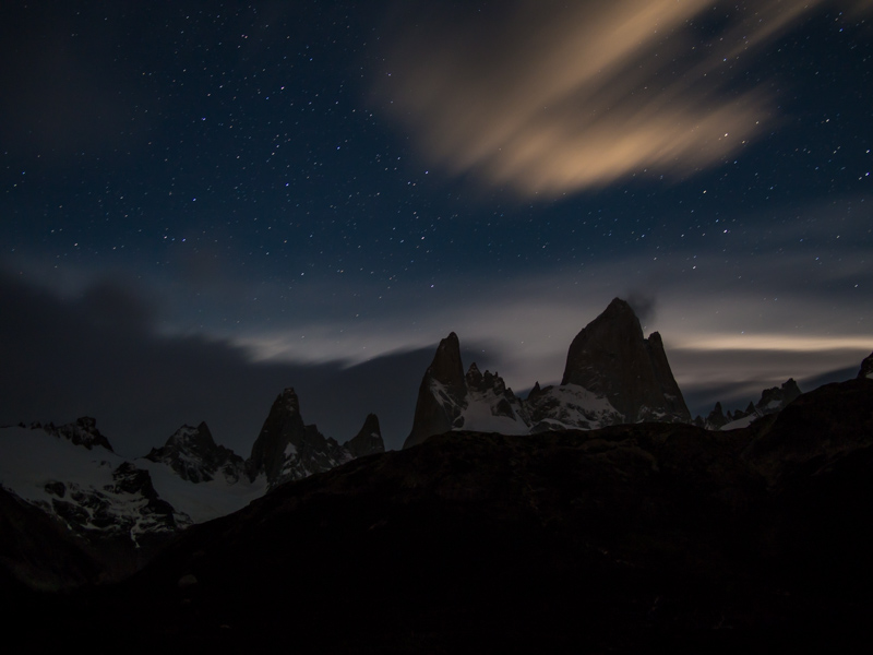 Fitz Roy stars at night