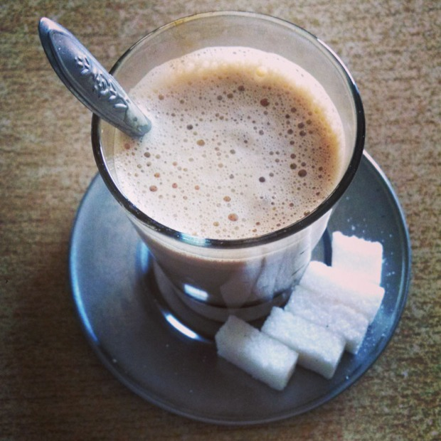 Moroccan sugar coffee