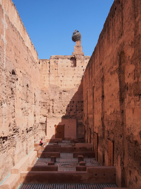 Moroccan tile and ruins