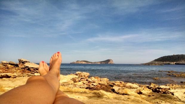 Rocky Ibiza beach