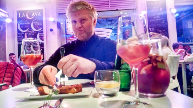 Dave and sangria in Ibiza Town