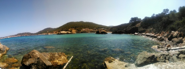 Panorama of Ibizan beach