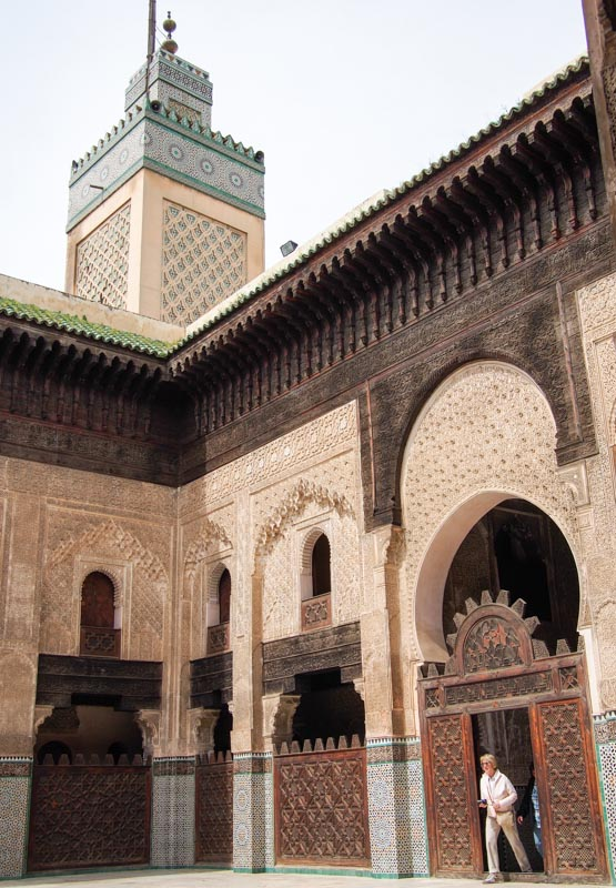 Old Islamic school in Fez