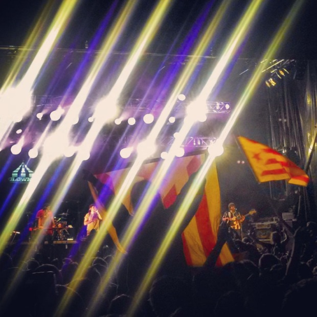 Catalonia flags