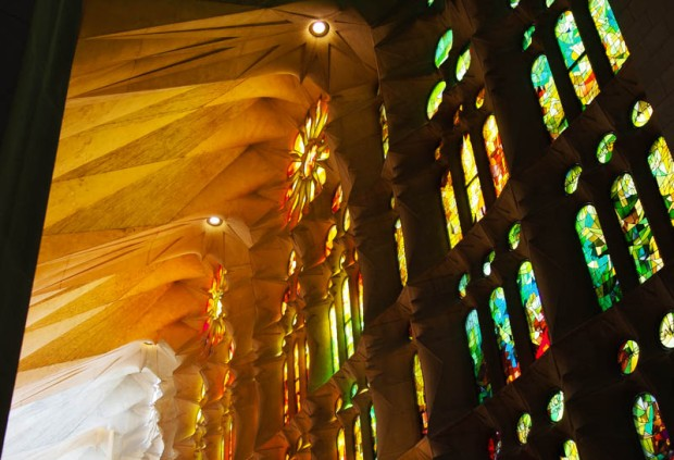 Stained Glass of Sagrada Familia