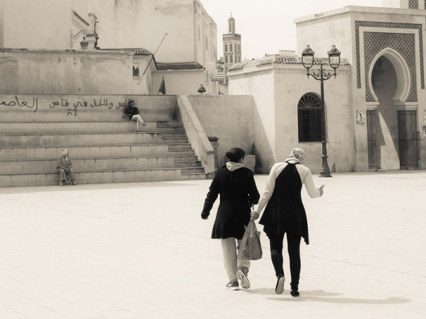 Local Moroccan ladies walking