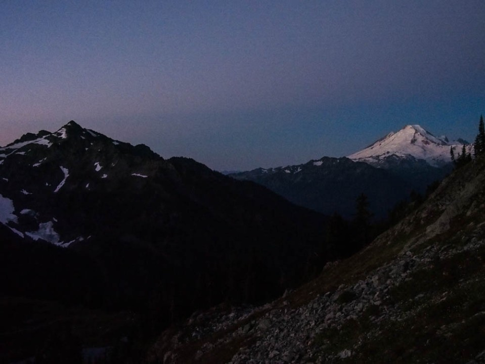 Baker and Shuksan at sunrise