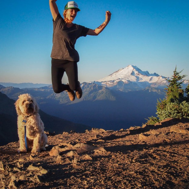 Jumping photo with my wheaten