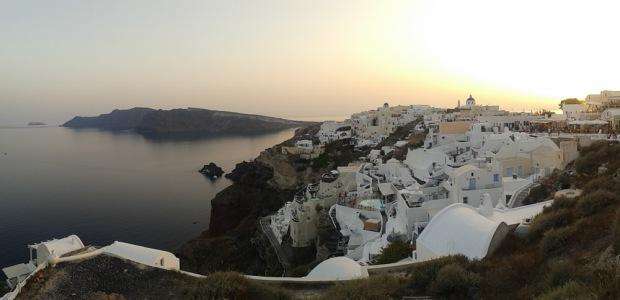 Oia Santorini at dusk