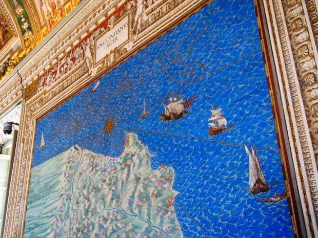 Colorful maps on the walls on the Vatican