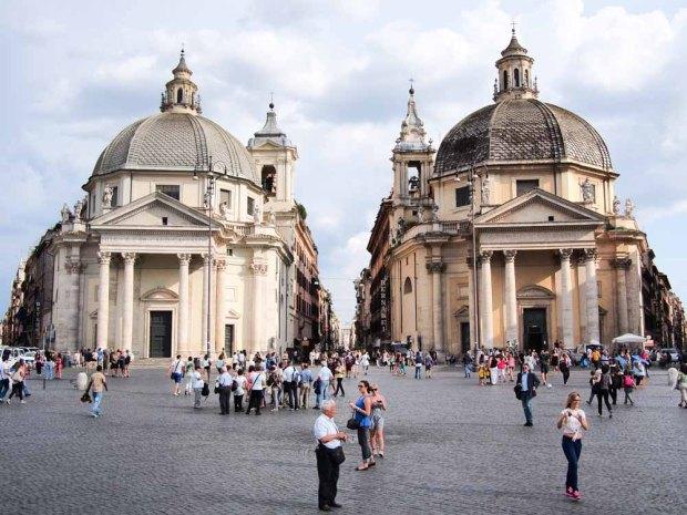 A beautiful square in Rome